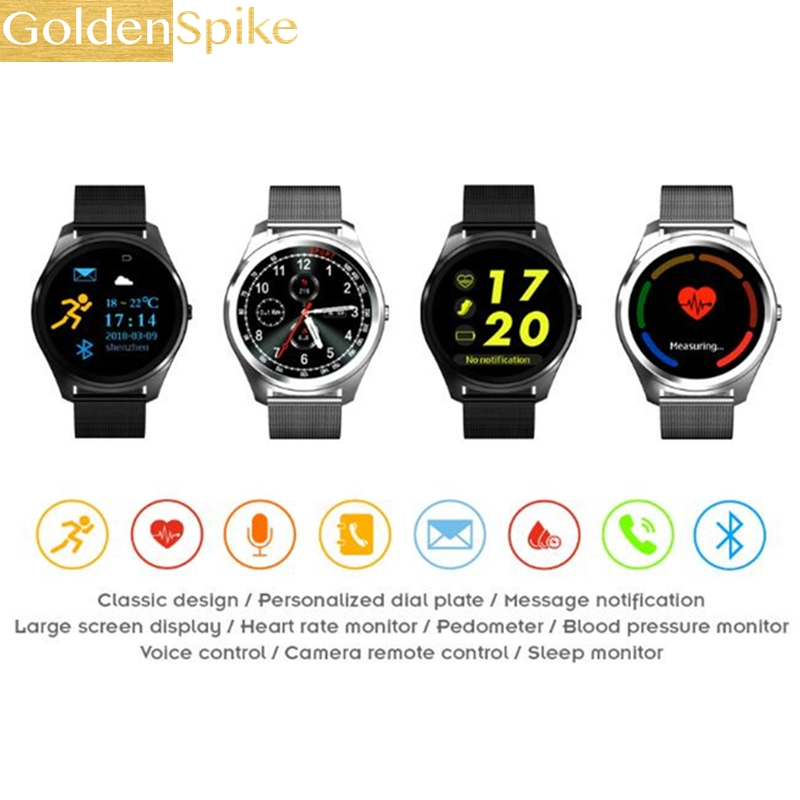 Goldenspike Bluetooth Smart Watch X8 Smart Electronics Wristwatch Sport Watch For Android Smartphone Health Smartwatch Bluetooth