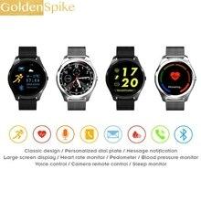 Золотой шип Bluetooth Smart часы X8 Умная Электроника наручные часы спортивные часы для Android-смартфон здоровья SmartWatch Bluetooth