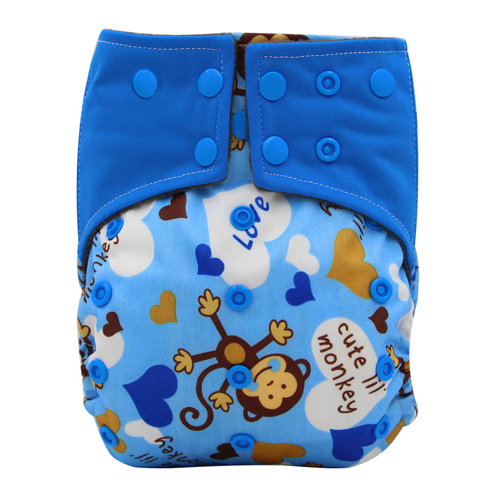 New 100/% Cotton Soft Cloth Baby Diaper Nappies /& Insert Made In Canada Monkey