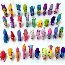 50 unids Animales de Dibujos Animados Caballo de Huevo Modelo de Perro Figuras de Acción de PVC En Miniatura Mini Tienda de Mascotas Anime Figurines Muñecas de Colección Juguetes Para Niños