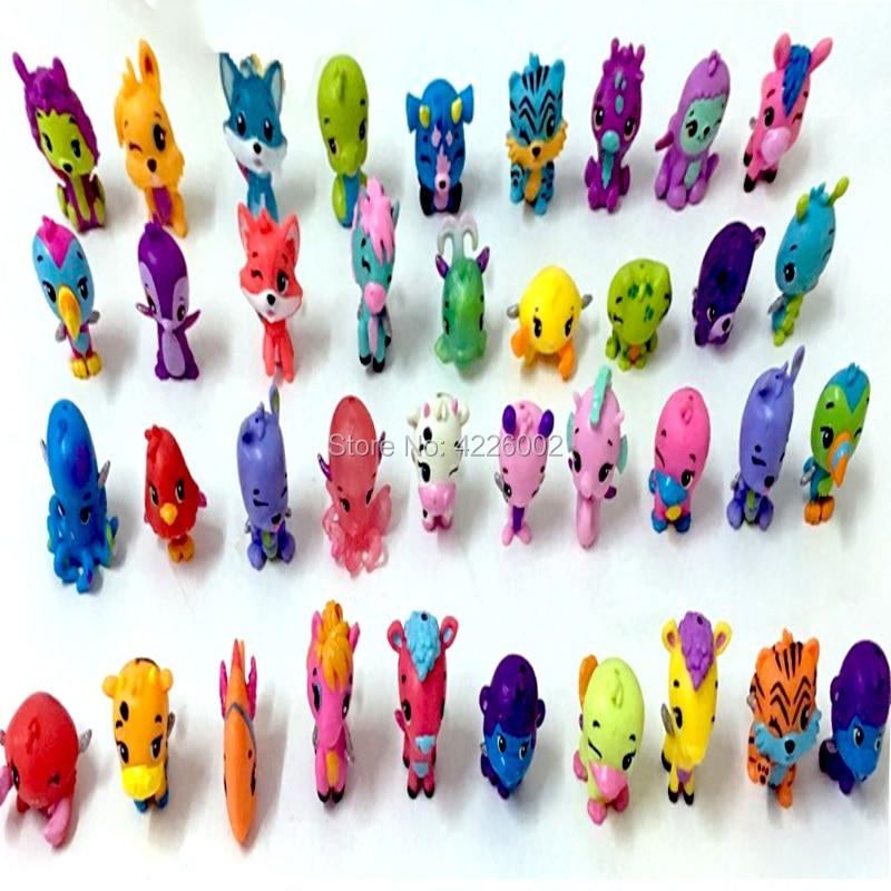 50pcik Cizgi Heyvanlar Yumurta At It Modelinin Miniatür PVC - Oyuncaq fiqurlar