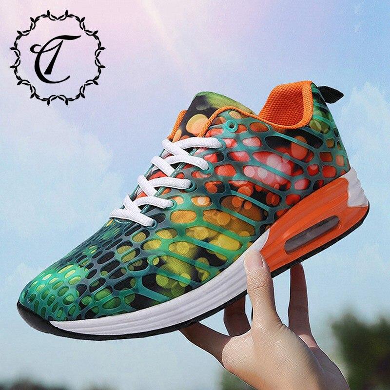 CatriCa Air Cushion 2019 Summer Hot Sale Shoes Men High Quality Trainers Fashion Luxury Tennis Woman Sneakers Green Orange K58 zapatillas de moda 2019 hombre