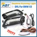 Canbus LED Car Daytime Running Luz 12 V 6 W * 2 Cr ee Alta potência 1320lm para BMW X3 F25 2010-2014 Lâmpada Luz Do Dia DRL com a Volta de Luz