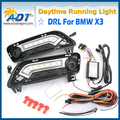 LED Car Daytime Running Light Canbus 12V 6W*2 Cr ee High power 1320lm for BMW X3 F25 2010-2014 DRL Daylight Lamp with Turn Light