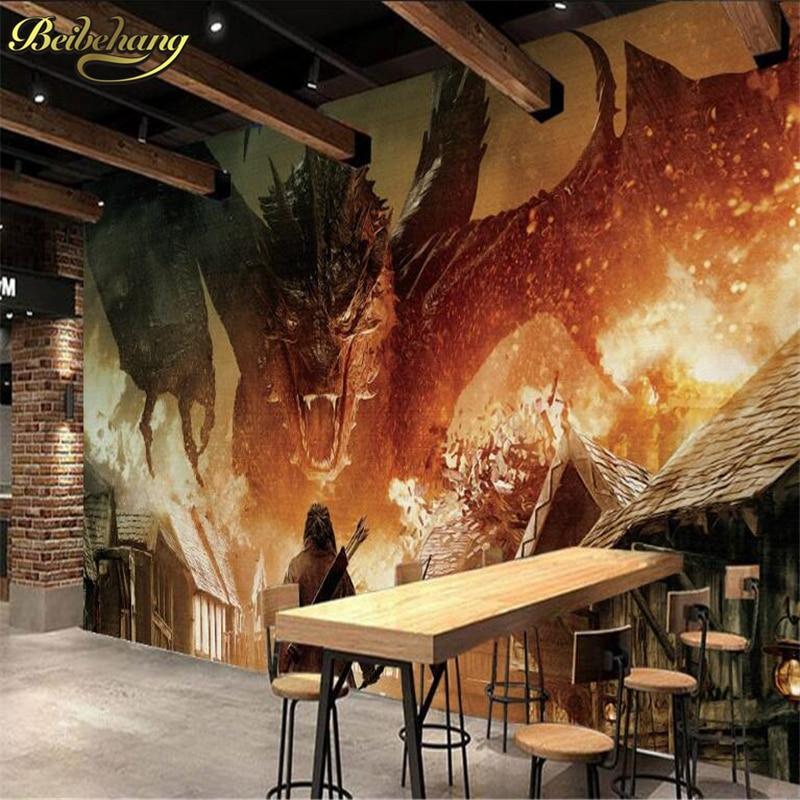Beibehang Hobbit Dragon Custom Photo Wallpaper For Living Room 3d Murals Mural Wallpaper For Walls 3 D TV Background Wall Paper