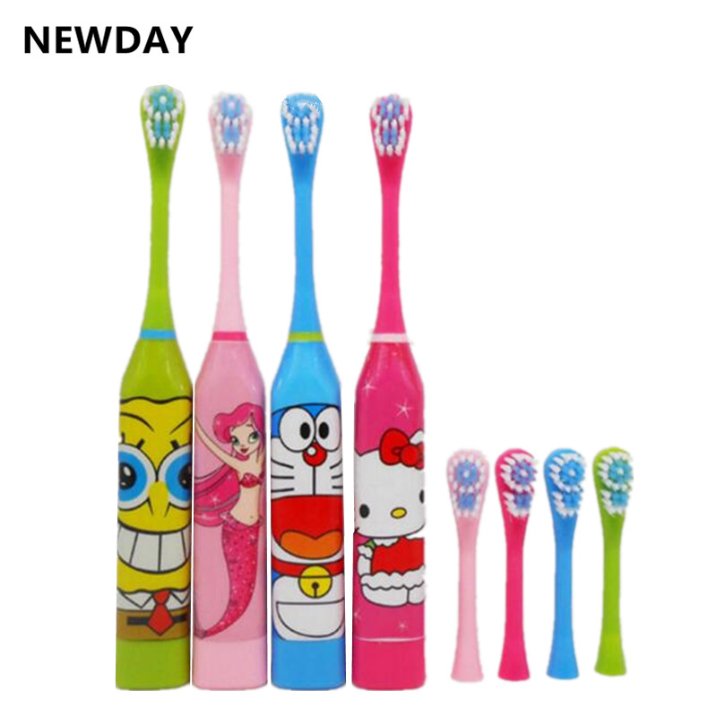 Acoustic Wave Electric Toothbrush Children Cartoon Ultrasonic Vibrating Tooth Brush Oral Clean Teeth Whitening Sonic Teethbrush