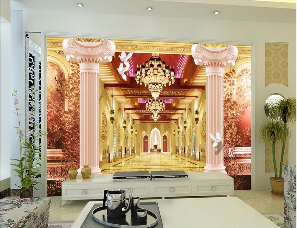 Fancy Wall Pillars Decoration Image Collection - All About Wallart ...