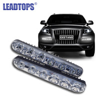 Car High Power High And Low Beam Aluminum Near And Far LED Daytime Running Lights With