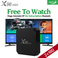 X96 mini Smart Android 7.1 Arabic IPTV BOX 2G+16G TV box with subscription 1300+ French Turkey Spain Italy Channels