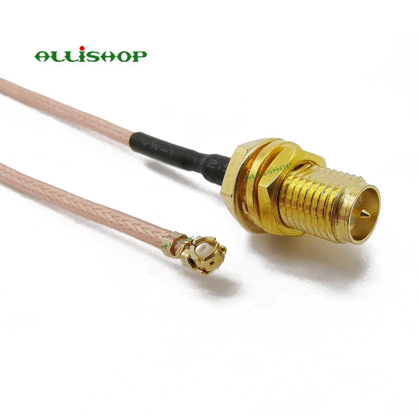 5PCS//10PCS IPX IPEX U.FL to SMA Jack Female Pin RF Cable for Antenna WiFi Router