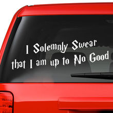 DF541 Harry Potter I Solemnly Swear I Am Up To No Good Wall Decal Vinyl Sticker Quote(China (Mainland))