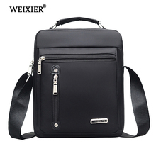 WEIXIER Brand Mens Fashion Nylon Designers Casual Solid color Bags Men Handbag Bag Crossbody Travel Messenger