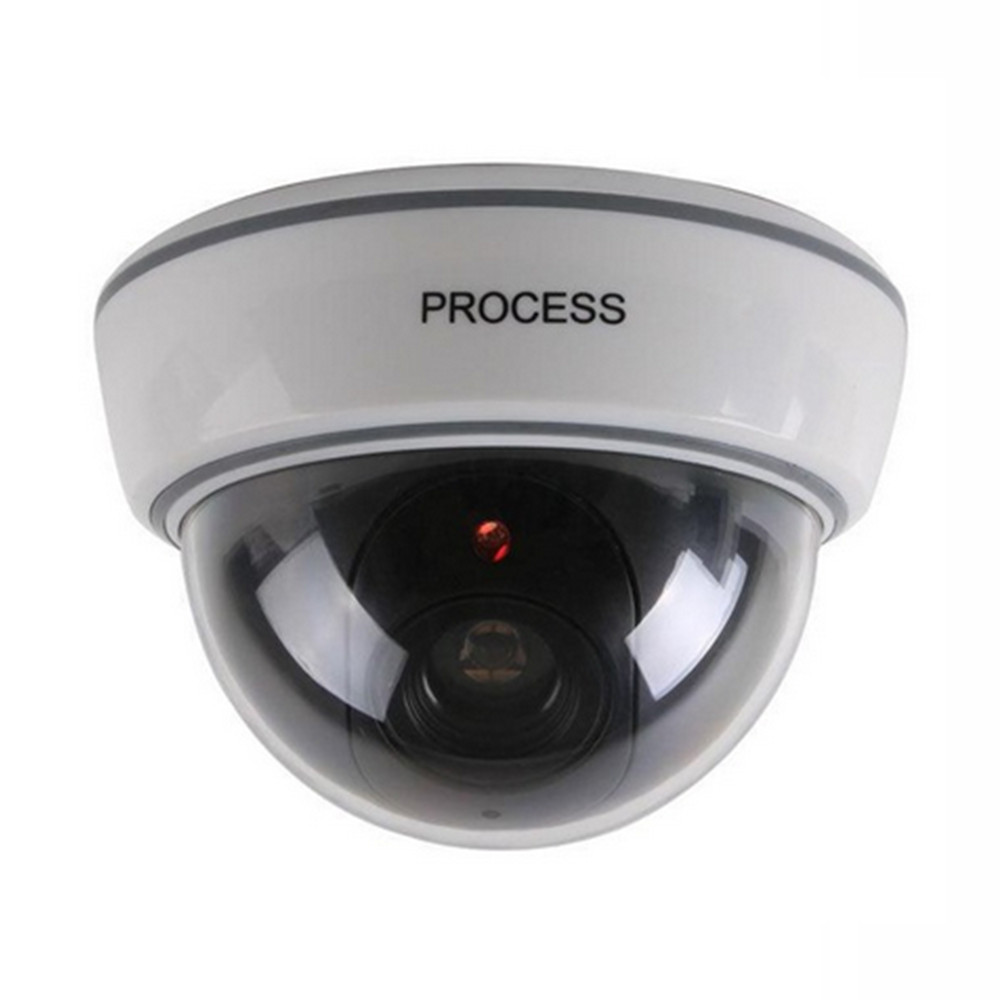 Dome Camera Fake Dummy Simulation Camera Safely Security Surveillance Camera Red LED Blinking Light Camera Indoor Outdoor simulation shooting camera surveillance camera fake gun type rainproof outdoor available black