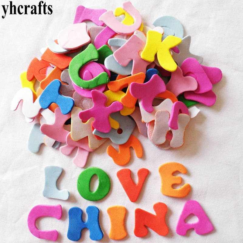 80PCS(/LOT.A-Z letters foam stickers Alphabet stickers Kids toy Scrapbooking kit Early educational toys Teach your own OEM cheap