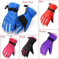 Winter Outdoor Sport Ski Snowboard Motorcycle Cycling Windproof Waterproof Women Men Warm Full Finger Skiing Gloves