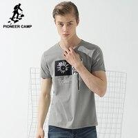 פיוניר מחנה אופנה חולצת טריקו בגדי גברים מותג אופנה חדשה חולצת טי חולצה קצרה זכר למעלה אלסטיים מקרית איכות ADT702110
