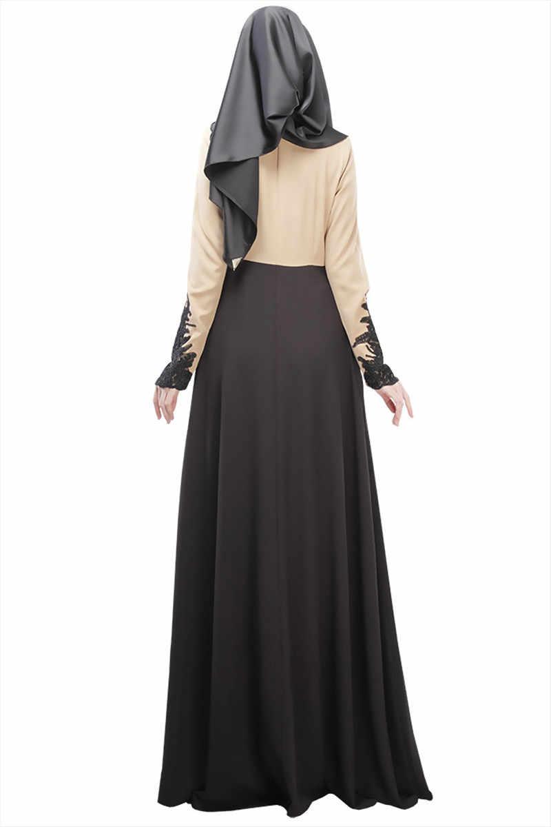 2019 Musulmano vestito delle donne In Chiffon dubai abaya tessuto turco abiti musulmano abbigliamento islamico vestito Abaya dubai hijab B8007