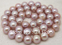 High Quality 10mm Purple Natural Freshwater Pearl Loose Beads 15 Min Order 10 Provide Mixed Wholesale