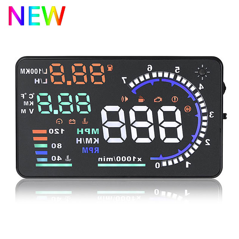 2019 HUD Head Up Display 5.5 inch Auto Car Display OBD 2 Interface Speed Alarm obd gauge car electronics speedometer windshield