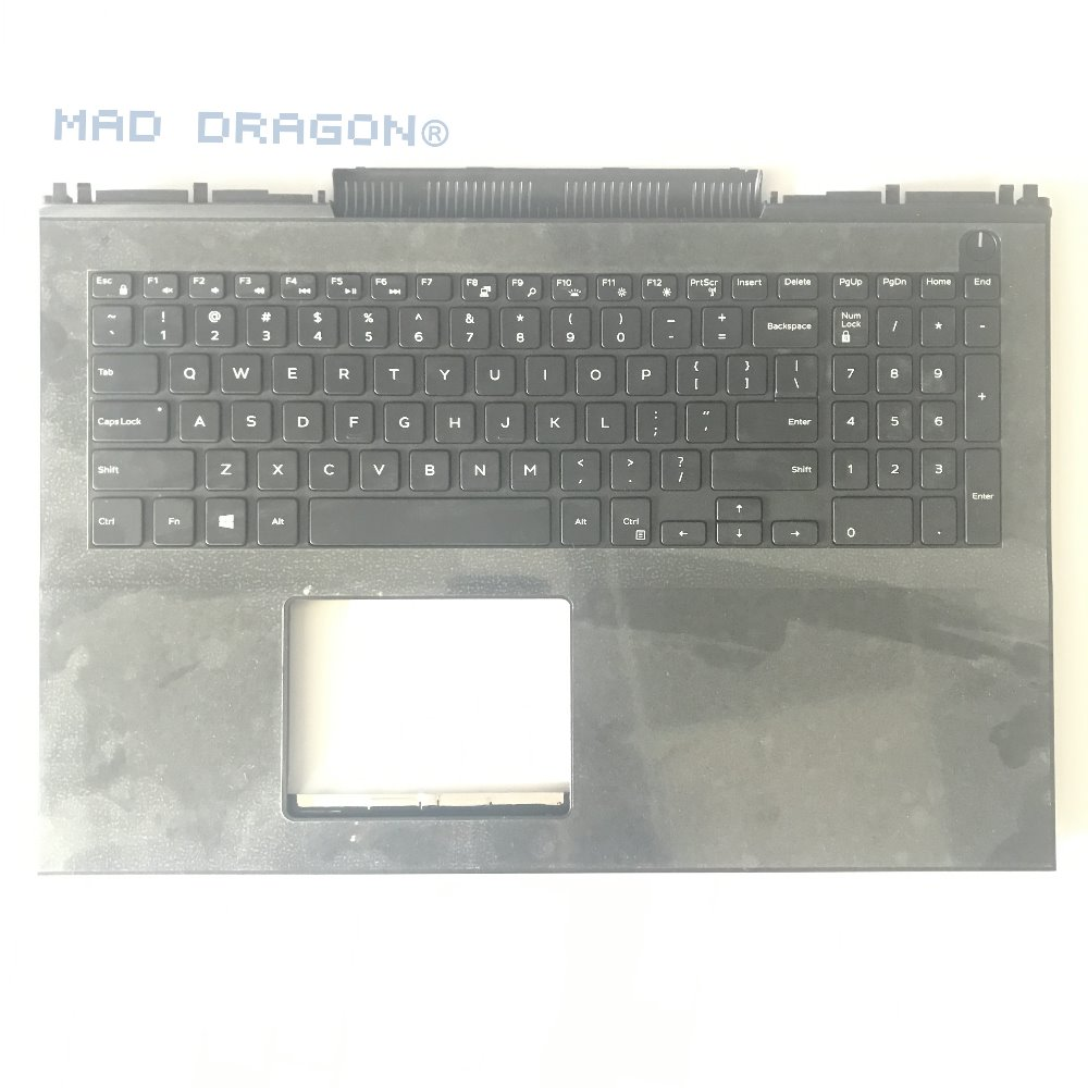 BRAND New orig laptop case for DELL Inspiron MASTER15 7566 7567 layout US White Backlit Keyboard palmrest russian new laptop keyboard for samsung np300v5a np305v5a 300v5a ba75 03246c ru layout