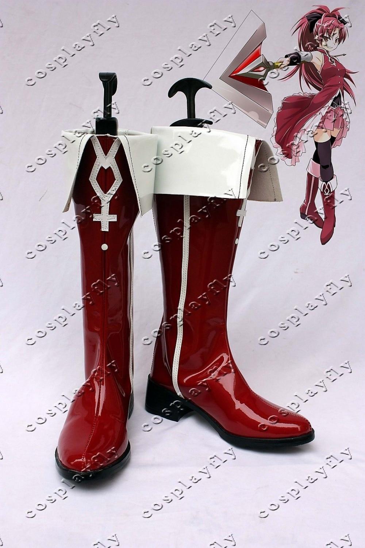 Puella Magi Madoka Magica Kyoko Sakura Cosplay Boots Shoes For Costume Custom Made