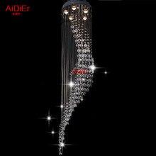Modern LED dairesel Avizeler kristal lamba oturma odası yatak odası lamba LED enerji tasarruflu lambalar yüksek qualityD400xH1500MM