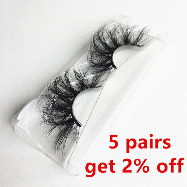 100% Mink Lashes 25mm 3D Mink Eyelashes Extension Makeup Natural False Eyelashes Volumn Lash Extension Silk Eyelashes Faux Cils
