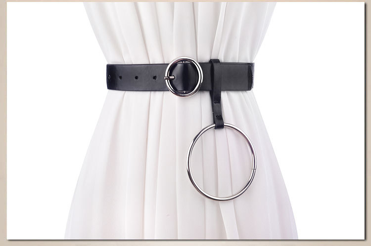 Women Genuine Leather Belts Female Decoration Brief Black Long Cowskin Belt For Women Dree& Coat Interl Cummerbunds SO0115