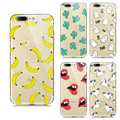 Soft TPU Capa For Apple Iphone 7 Case Silicon Fruit Lemon Banana Emojio Donuts Macaron Paras Phone Case For Iphone 7 Back Cover