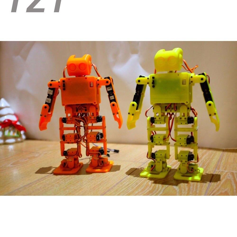 2018 pour Arduino Support WiFi contrôle non assemblé 17DOF danse Robot Kit éducatif Robot Kit ensemble