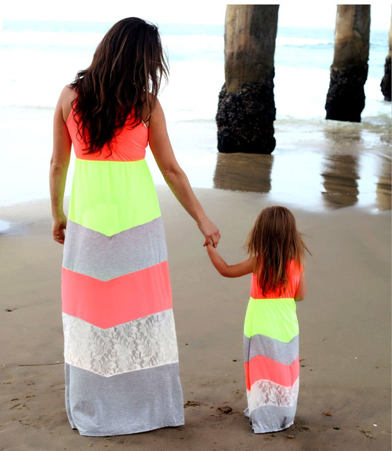 HTB1SVGZKFXXXXXYXXXXq6xXFXXXm summer Mommy and me family matching mother daughter dresses clothes striped mom dress kids child outfits mum sister baby girl