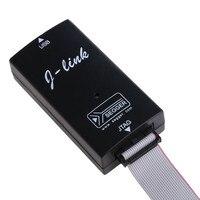 Black Plastic ADS IAR STM32 JTAG Interface JLINK V8 Debugger ARM ARM7 Emulator Cortex M4 M0