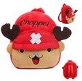 23 CM One Piece Chopper felpa del niño de la historieta Mochila Mochila para bolso de escuela del niño para chica Kindergarten bebé Mochila Mochila