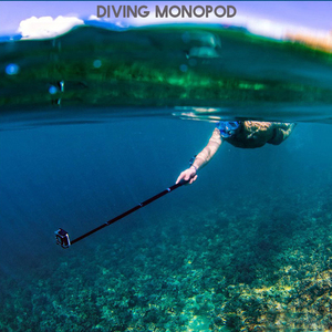 "Image 5 - 36"" Go Pro selfie Stick Action Camera diving Extendable Aluminium Selfie Monopod For GoPro HERO + SJCAM For Xiaomi yi 4k"