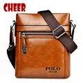 Moda masculina bolsa de hombro bolsas de mensajero de los hombres de Cuero Artificial paquete de Archivos maletín bolsos de lujo de diseño Multi-estilo