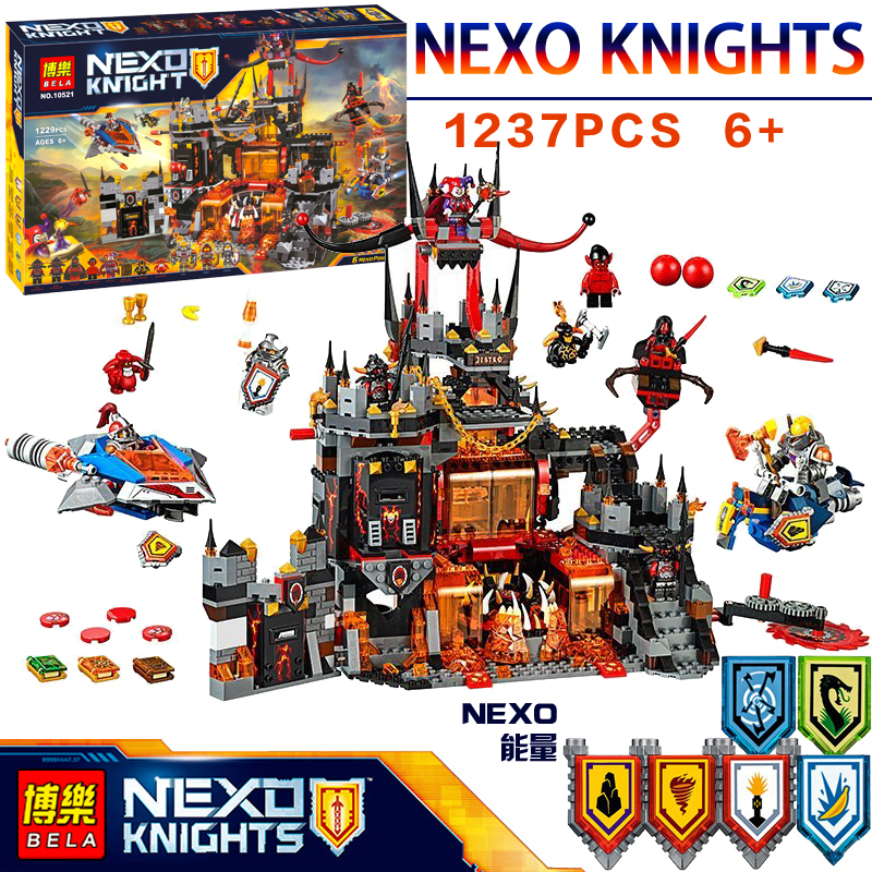 1237Pcs 10521 Nexus Knights Chevaliers Axl Jestros Volcano Lair Combinaison Marvel Model Building Block Compatible 70323 bricks 5 port solenoid valve sy5120 5gd c6 smc type made in china