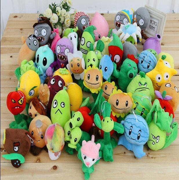 Plants vs zombie style puppets 2012 - 28 centimeters of plants vs zombies' soft plush toys, gifts dolls toys children's party image