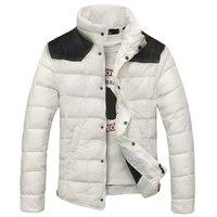 New Fashion Patchwork Mens Cotton Jackets Slim Waterproof Winter Coat Men