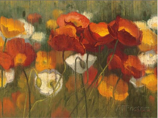Vendita calda famosi pittura a olio del fiore La Potenza di Rosso II ...