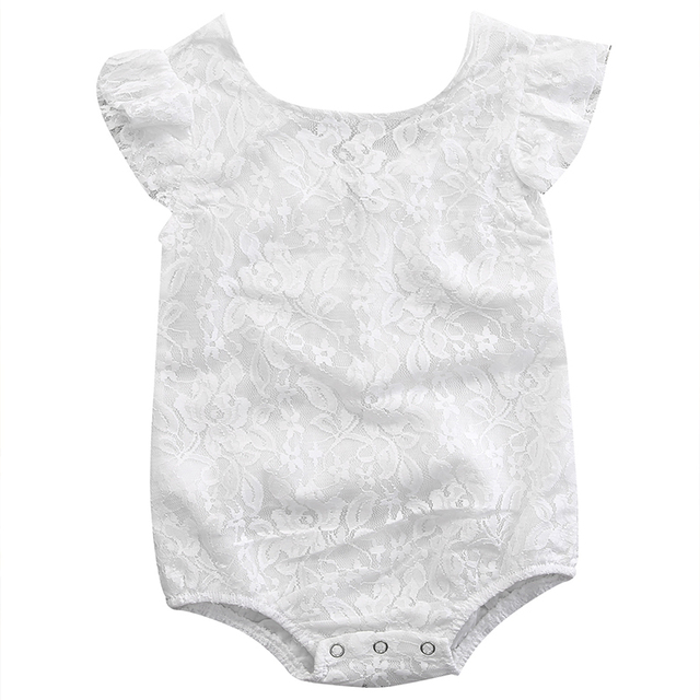 3138ad7dfc6 2017 Newborn Baby Summer Rompers Infant Baby Girl Cotton Lace Romper  Sleeveless White Jumpsuit Kids Baby Girls Clothes Outfit
