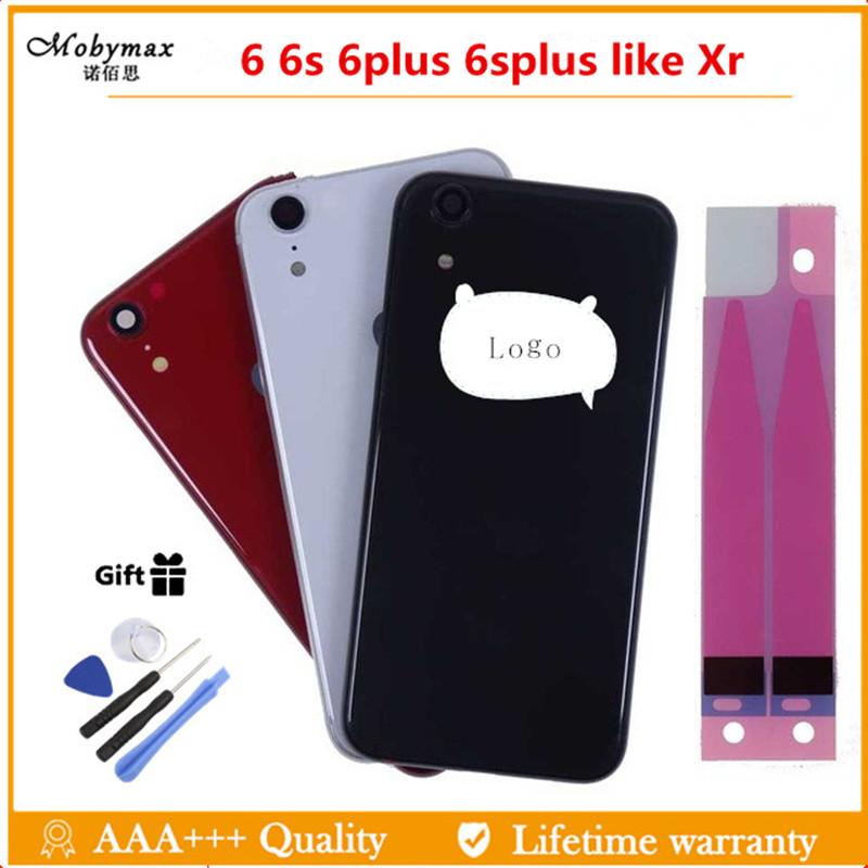 Back-Cover Chassis Xr-Housing Like iPhone 6 Frame 6s-Plus for 6g Xr-Style Rear-Door