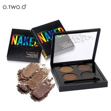 O.TWO.O  New Brand Pro 4 Colors  Eyebrow Makeup Set Waterproof Smudge Proof Eye Brow Powder Palette For Women