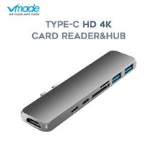7 in 1 USB C Type C Hub HDMI for Macbook Pro Air 2018 USB-C Hub USB Splitter 3.0 Adapter TF/SD Card Reader Type C For macbook 12