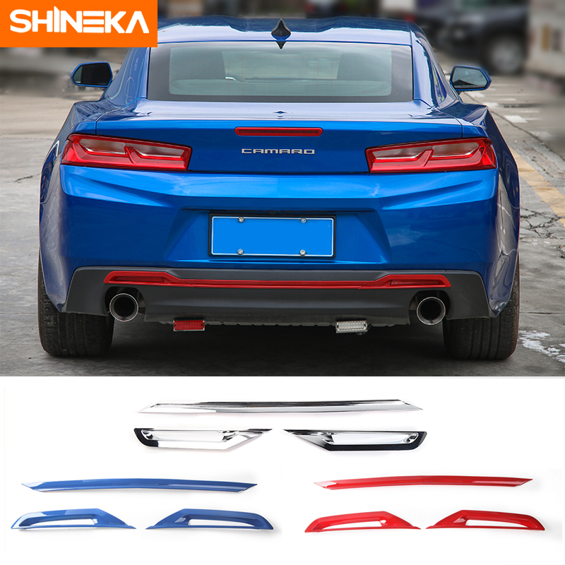 SHINEKA Rear Bumper Decoration Trim Fog Light Lamp Cover Trim Bezels Body Sticker Moulding for Chevrolet