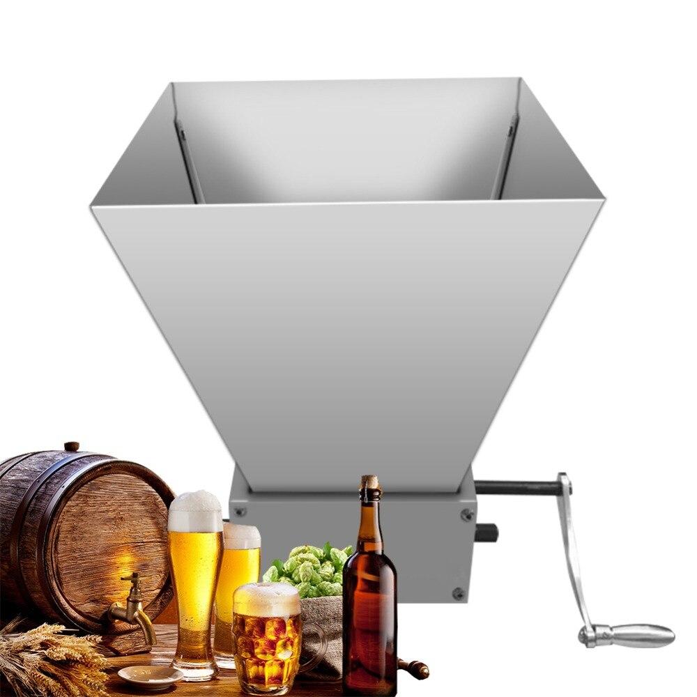 Grain Grinder 2 3 Adjusted Rollers Crusher Double Eccentric For Barley Malt Mill Homebrew Granulator Grinder