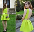 2014 fashion sexy backless dress nightclub pleated foreign trade dress