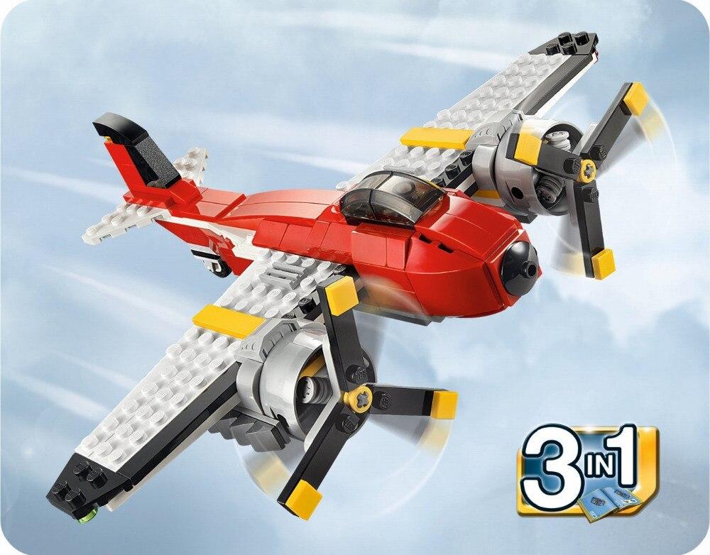 DECOOL City 3 in 1 Radītāja propellera piedzīvojumi Celtniecības bloki Ķieģeļu modelis Bērnu rotaļlietas Marvel saderīgas legozes