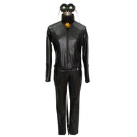 2017 Miraculous Ladybug Adrien Agreste Black Cat Noir Catsuit Cosplay Costume Mask Halloween Fancy Clothes Custom