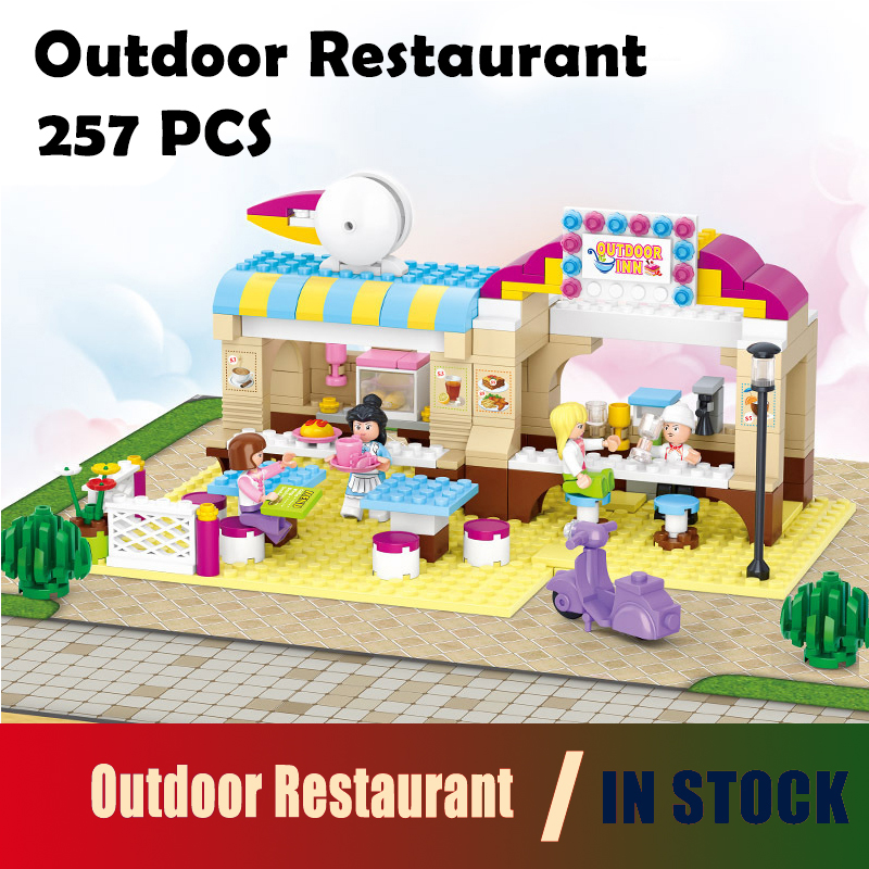 compatible with lego City Model building kits Restaurant 0530 3D blocks Educational model & building toys hobbies for children