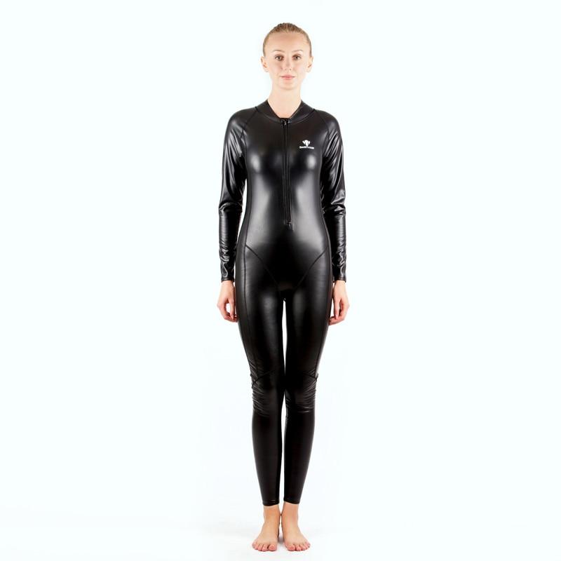 HXBY corps complet PU imperméable à l'eau une pièce costumes maillots de bain femmes hommes à manches longues Arena compétitif natation maillot de bain chaud Body